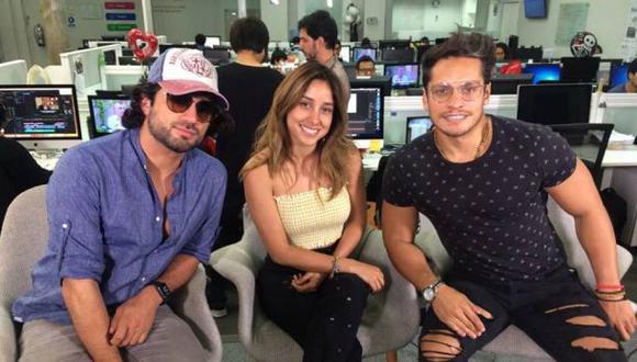 """Pablo Heredia, Nikko Ponce y Ximena Palomino, actores de """"Ojitos Hechiceros 2"""". (Foto: Difusión)"""