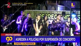 Cajamarca: agreden a policías por suspensión de concierto
