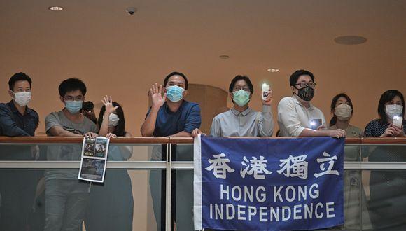 """La oposición prodemocracia de Hong Kong lamentó hoy que el Legislativo chino aprobase una ley de seguridad nacional para el territorio y aseguraron que se trata del """"fin"""" de la ciudad semiautónoma. (Foto: Anthony WALLACE / AFP)"""