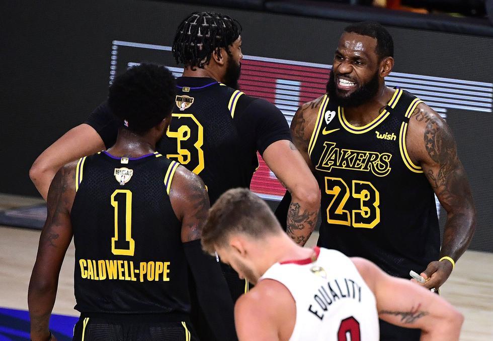 Los Lakers lideran la serie 3-1 y están a un solo juego de proclamarse como campeones de la temporada. Aquí todos los detalles del juego más importante de la serie. (Foto: AFP)