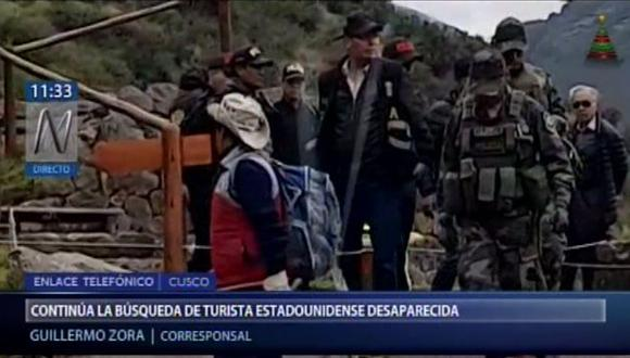 Sigue la búsqueda de la turista estadounidense Carla Valpeoz reportada como desaparecida el 15 de diciembre. (Captura: Canal N)