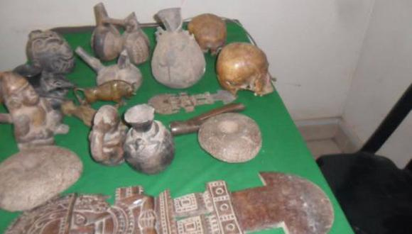 Policía recupera 31 piezas arqueológicas en casona de Túcume