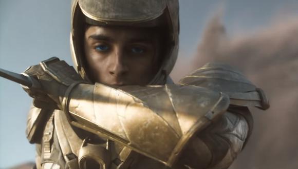 "Thimotée Chalamet caracterizado como Paul Atreides en ""Dune"", de próximo estreno. Foto: HBO Max."