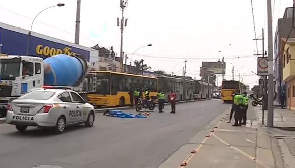 El accidente en Chorrillos ocurrió esta mañana. (Captura: Canal N)
