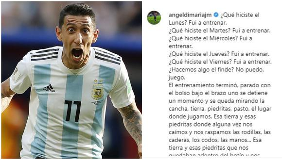 """Ángel Di María y su carta más descarnada que se volvió viral: """"¡De fútbol no saben nada!"""". (Foto: Instagram Di María)"""