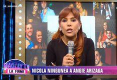 "Magaly Medina a Nicola Porcella por negar que estuvo enamorado Angie Arizaga: ""Hasta anillo de compromiso le iba a dar"""