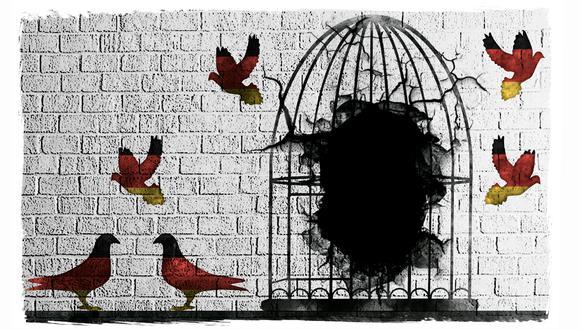 """""""El 'soft power' del liberalismo democrático consiste en ser tanto una ideología que se sustenta en las libertades individuales como una forma de gobierno que defiende la competencia política en igualdad de condiciones"""". (Ilustración: Rolando Pinillos Romero)"""