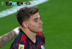River vs. Central Córdoba: Julián Álvarez convirtió golazo y puso 2-0 al 'Millo' | VIDEO