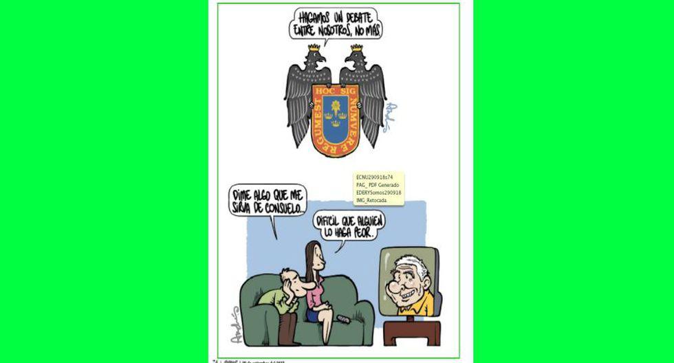 Las gráficas que el caricaturista Andrés Edery publica en la revista Somos este 2018 también las podrás ver aquí. Esta vez, un ex presidente fue el gran protagonista.