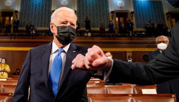 El presidente Biden planteo un plan significativo de gasto publico ante el Congreso. (Foto: Getty Images)