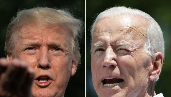 La ventaja de Joe Biden sobre Donald Trump se amplía a dos semanas de las elecciones en Estados Unidos. (Fotos: Jim WATSON y Dominick Reuter / AFP).