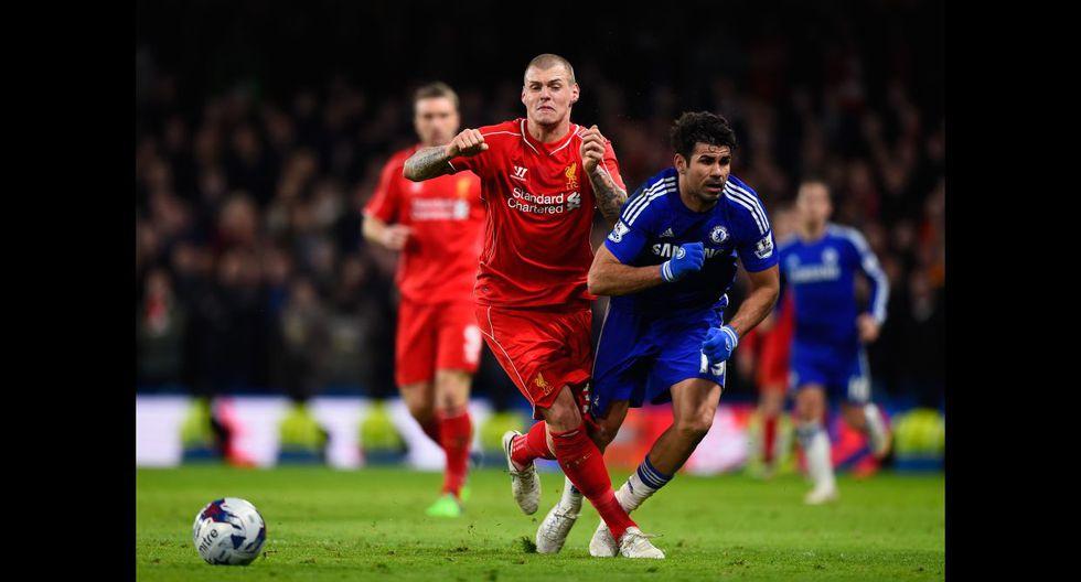 Diego Costa desató la furia de los jugadores del Liverpool - 9