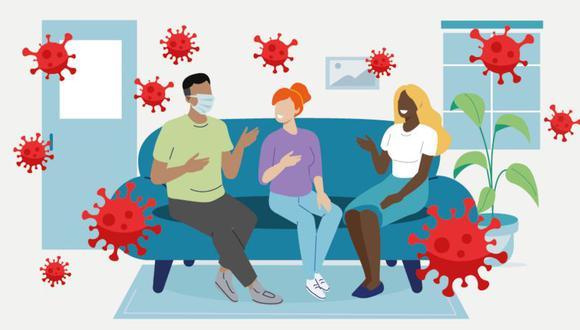 Científicos idearon una tabla que clasifica el riesgo de contagio en reuniones sociales. (Foto: BBC)