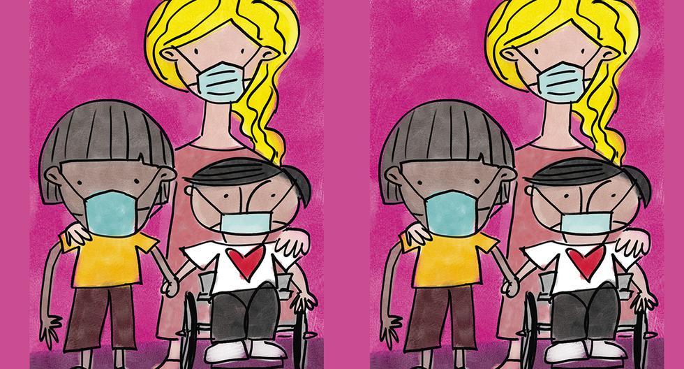 Tras un año de pandemia, el colectivo de personas con discapacidades solicita a las autoridades revisar las necesidades de todos los grupos vulnerables y no invisibilizarlos. (Ilustración: Giovanni Tazza)