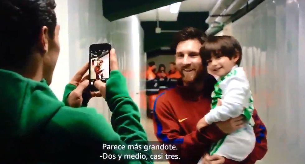Lionel Messi y el día que le cumplió el sueño al hijo de Andrés Guardado. (Foto: Captura de video)