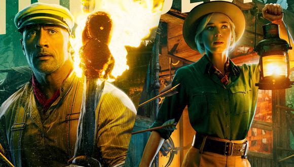 "Emily Blunt es Lily Houghton y Dwayne Johnson es Frank Wolff en ""Jungle Cruise"" de Disney. (Foto: Disney)"