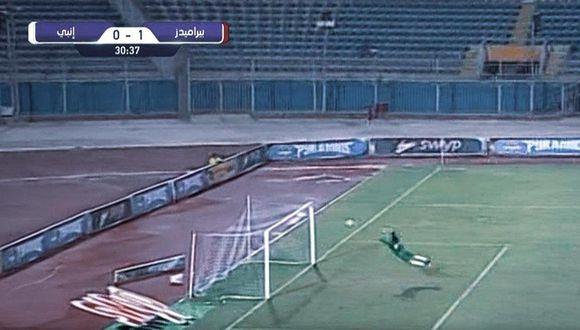 La atajada del fin de semana ocurrió en Egipto y el protagonista de tal acción es el golero Mahmoud Gad del club egipcio ENPPI. El video ya es viral en YouTube. (Foto: ENPPI)