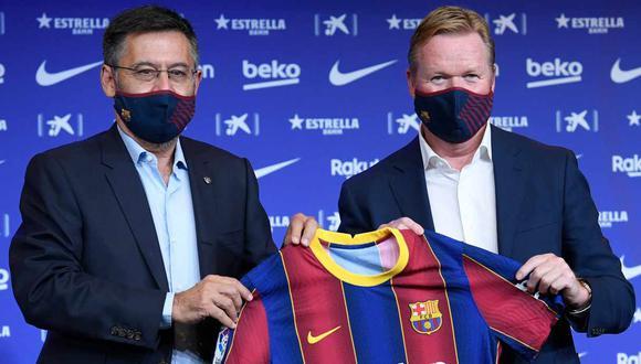 Ronald Koeman lamentó la detención de Josep Maria Bartomeu. (Foto: AFP)