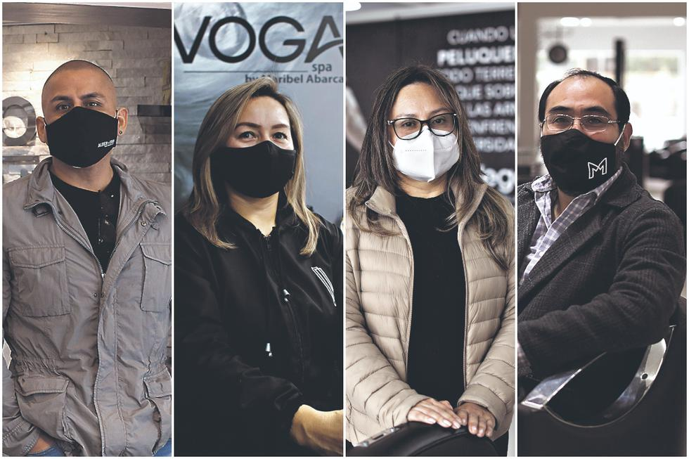 De izquierda a derecha: Marco Apolaya (Alter Ego), Maribel Abarca (Voga Spa), Rebeca Antezana (Peluquería Las Vegas) y Víctor Hugo Montalvo (Montalvo Spa y Belove). (Fotos: GEC)
