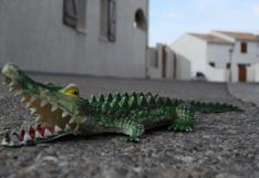 Cocodrilo de juguete provocó pánico en ciudad inglesa