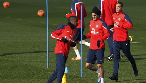 Cavani se recuperó de lesión y reaparecería ante el Olympique