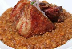 Aprende a hacer una deliciosa carapulcra y panceta crocante con la receta de Flavio Solórzano   VIDEO