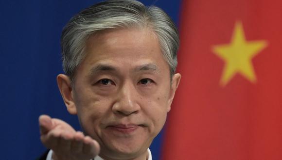 El portavoz chino Wang Wenbin dijo que el origen del coronavirus también debería ser investigado en Estados Unidos. (Foto: GREG BAKER / AFP).