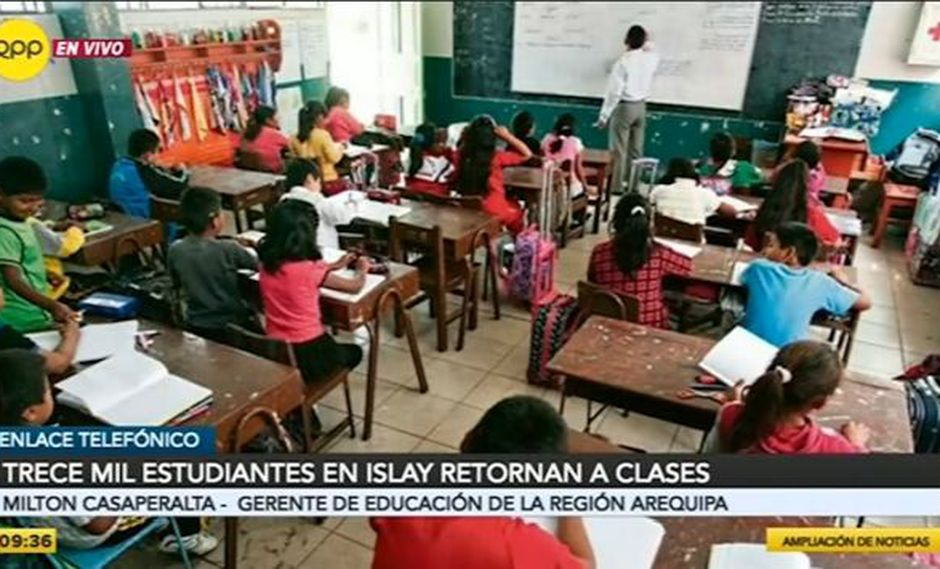 Solo en los distritos de Mollendo y Matarani, Islay, la asistencia a clases llega al 100%. (Video: RPP)