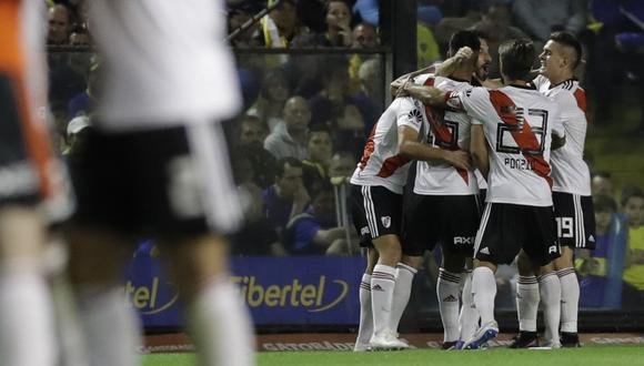 Boca Juniors perdió 2-0 ante River Plate en la Bombonera por la Superliga argentina. (Foto: AFP)