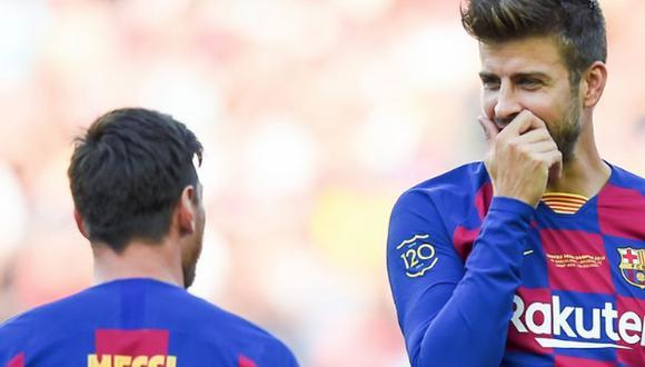Piqué estrena nuevo look en el Barcelona antes de enfrentar al Real Madrid. (Foto: Agencias)