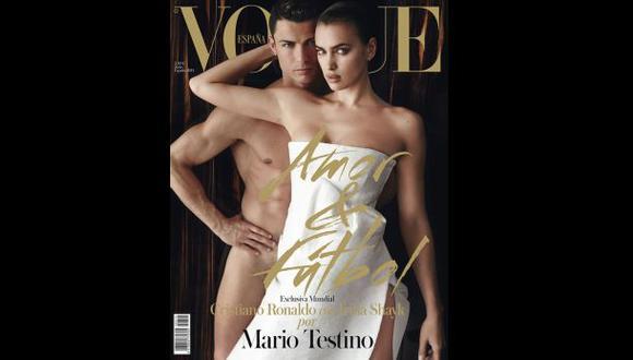 Cristiano Ronaldo e Irina Shayk posaron así para Mario Testino