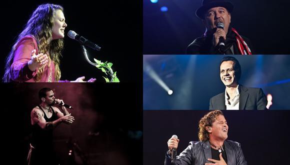 Jesse & Joy, Rubén Blades, Calle 13, Marc Anthony y Carlos Vives entre los nominados. (Fotos: Agencias)