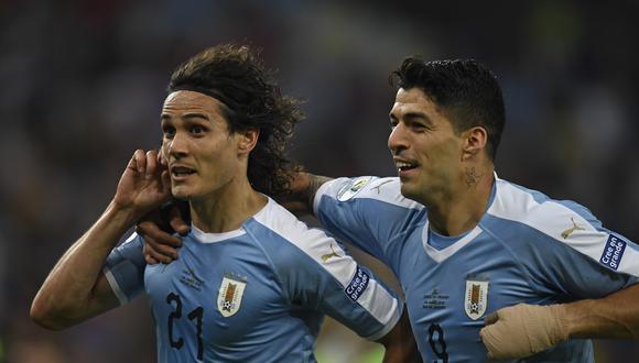 Con Suárez como líder: los convocados a la selección de Uruguay a la Copa América 2021. (Foto: AFP)