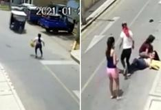 Mujer policía fue atropellada por delincuentes en mototaxi