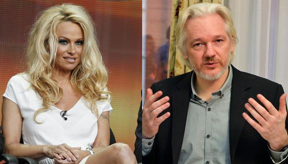 ¿Pamela Anderson y Julian Assange tienen un romance?