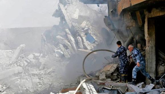 Varias instalaciones militares sirias fueron bombardeadas por los gobiernos de Estados Unidos, Francia y Reino Unido. (Foto: AFP)