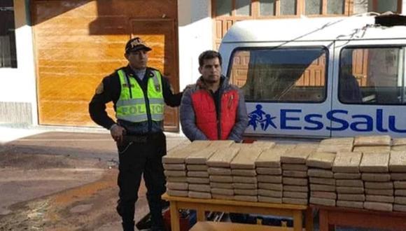 Narcotraficantes usaron vehículo con logo de EsSalud para pasar la droga