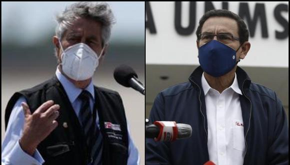 Pérez Ochoa detalló que, entre las ocho acusaciones contra Vizcarra Cornejo, hay una que fue presentada por un ciudadano y que también incluye al actual mandatario, Francisco Sagasti. Foto: GEC