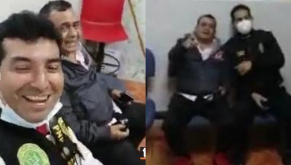 Policías graban a Tony Rosado y cantan junto a él en la comisaría tras su intervención en fiesta clandestina. (Foto: GEC)