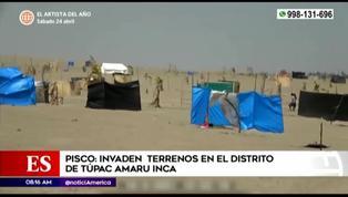 Pisco: familias invaden terrenos en el distrito de Túpac Amaru Inca