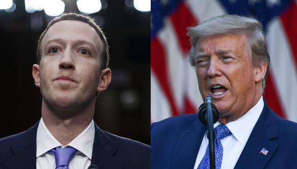 Mark Zuckerberg manifestó que tiene muchos puntos en desacuerdo con Donald Trump. (EFE/Shawn Thew - AFP / Brendan Smialowski).