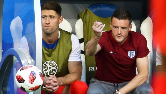Jamie Vardy y Gary Cahill decidieron dar un paso al costado en la selección de Inglaterra. Ambos prefieren centrarse en sus respectivos clubes. (Foto: AP)