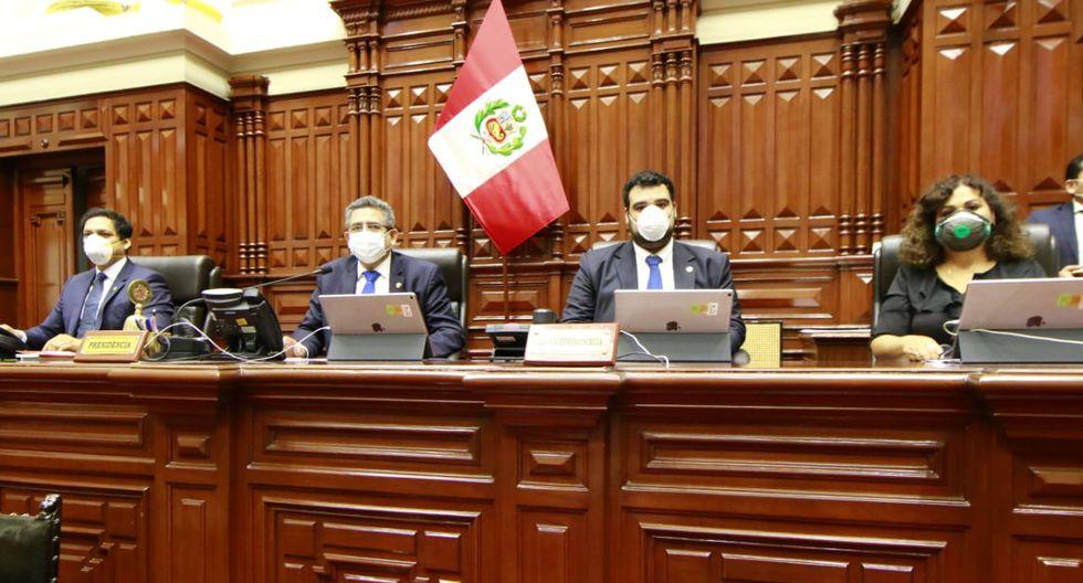 Presidente del Congreso indicó que todos los miembros de la Mesa Directiva dieron negativo al coronaviurs. (Foto: Congreso de la República)