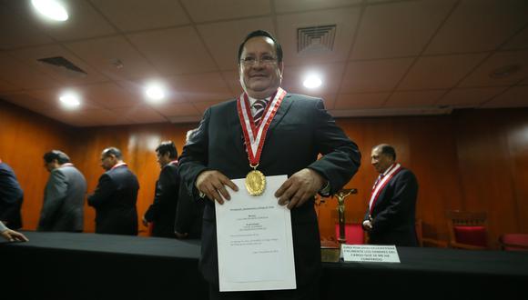 Luis Arce Córdova es el representante del Ministerio Público ante el pleno del JNE desde julio del 2016. (FOTOS: MIGUEL BELLIDO/EL COMERCIO)