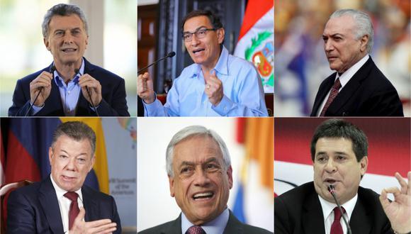 Argentina, Brasil, Chile, Colombia, Paraguay y Perú suspenden participación en bloque Unasur. (Fotos: AFP/Reuters/AP/EFE)