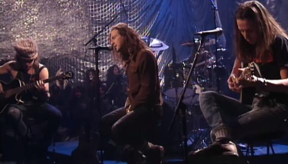 Pearl Jam comparte su concierto unplugged de 1992 en YouTube. (Foto: Captura de video)