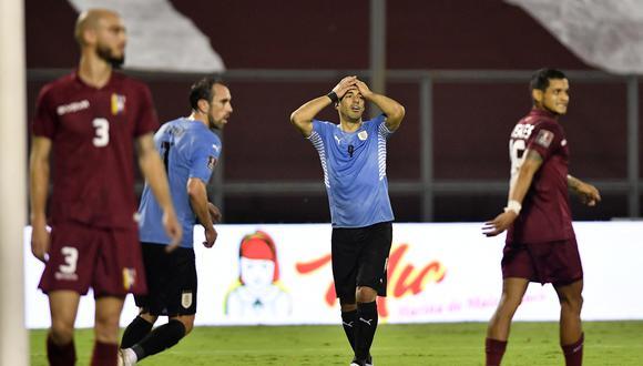 Uruguay consiguió su segundo empate consecutivo en las Eliminatorias Qatar 2022 (Foto: AFP)