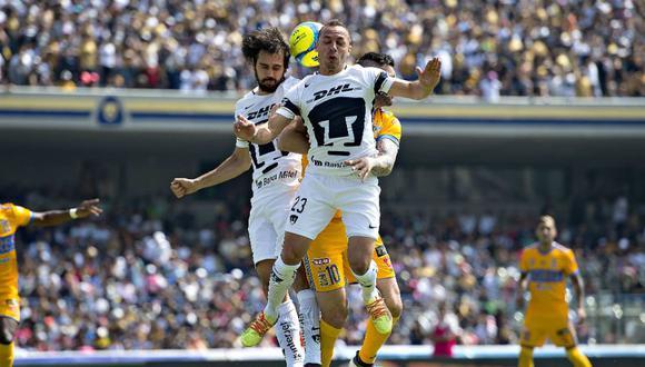 Tigres UANL realizó su peor partido en el Torneo Clausura. No tuvo capacidad de reacción ante      Pumas UNAM. Los goles fueron convertidos por Alejandro Arribas y Matías Alustiza. (Foto: Imago7)