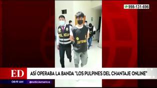 """La PNP capturó a banda delincuencial """"Los pulpines del chantaje"""""""