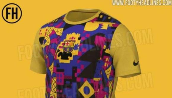 Filtran la nueva camiseta del Barcelona para la próxima temporada. (Foto: FootyHeadlines.com)